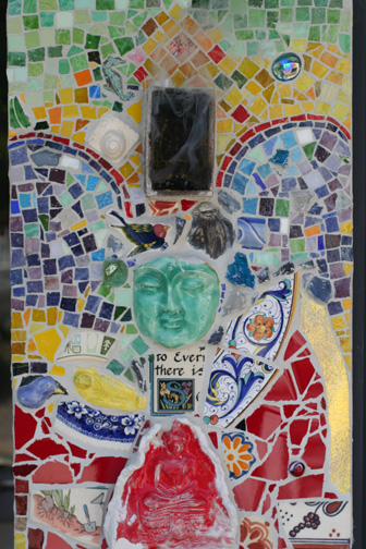 Grouted the magic mosaic portal today..