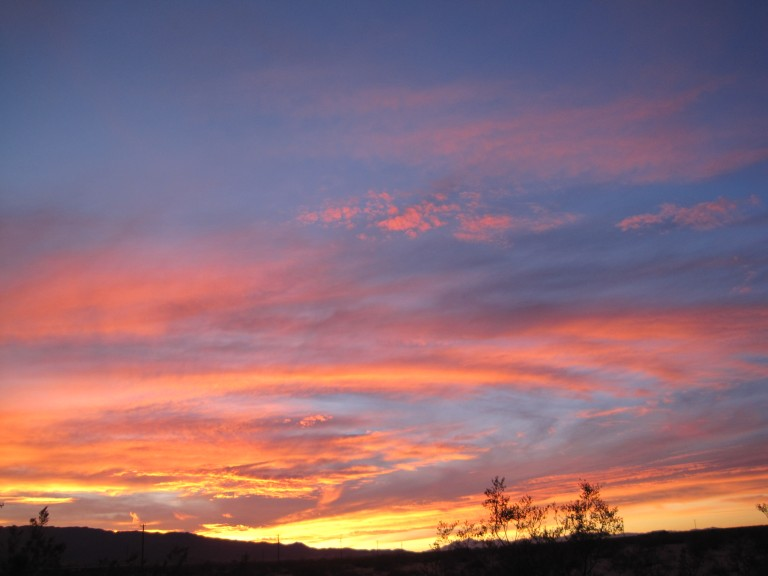 wOnder valley sunset ~ january 2010