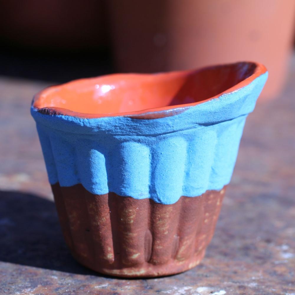 Dessert Cup with matte blue underglaze...