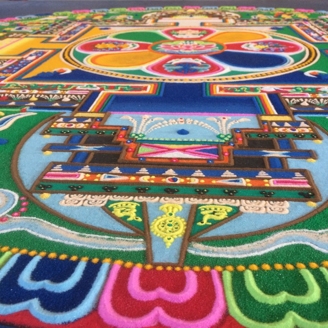 Close up Sand Mandala